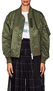 Sacai Women's Tech-Fabric Bomber Jacket-Khaki