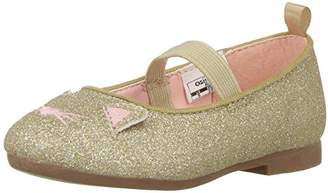 Osh Kosh Meow Girl's Glitter Cat Flat Ballet