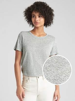 Gap Short Sleeve Crewneck T-Shirt in Linen Jersey