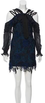 Self-Portrait Cold-Shoulder Cocktail Dress