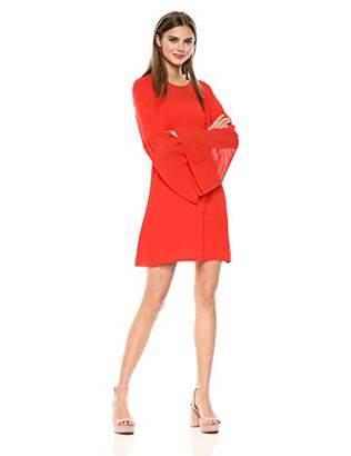 BCBGMAXAZRIA Azria Women's Mixed Media Flared Dress,L