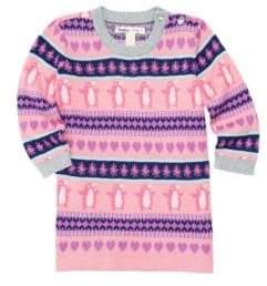 Hatley Baby Girl's Fair Isle Penguin Sweater Dress