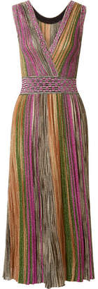 Missoni Metallic Knitted Midi Dress - Pink