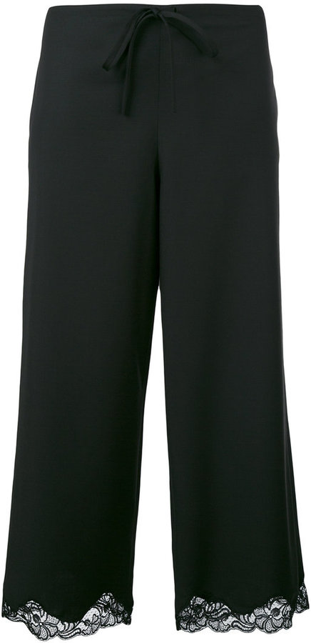 Alexander Wang Alexander Wang lace trim cropped trousers