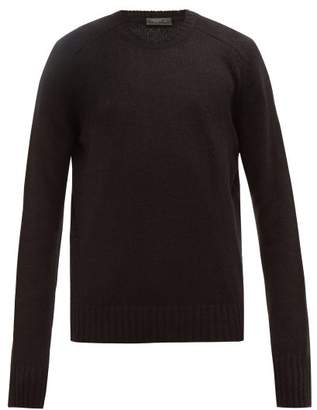 Prada Open Knit Virgin Wool Sweater - Mens - Black