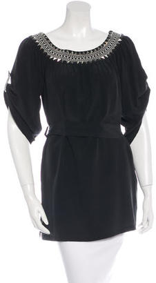 Alice by Temperley Silk Short Sleeve Tunic $45 thestylecure.com