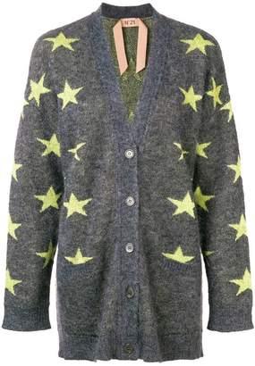No.21 star print cardigan