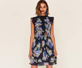 Oasis HYDRANGEA PLEATED DRESS