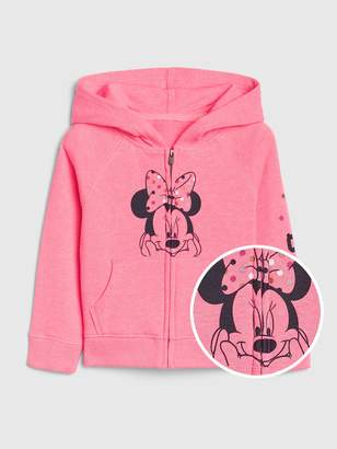 Gap babyGap   Disney Minnie Mouse Logo Hoodie Sweatshirt