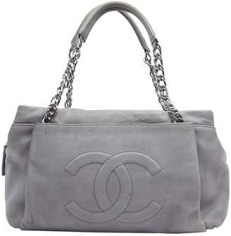 Chanel Grey Leather Handbags