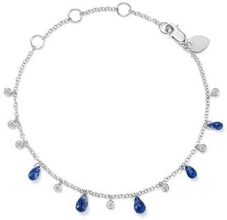 Meira T 14K White Gold Blue Kyanite Briolette & Diamond Bracelet
