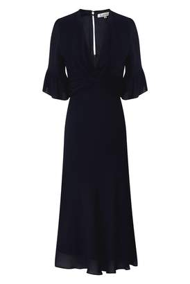 Libelula Millie Dress Frill Sleeve Navy