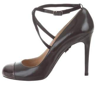 Ritch Erani NYFC Cap-Toe Leather Pumps