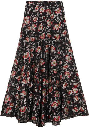 Isabel Marant - Peace Metallic Floral-jacquard Maxi Skirt - Black $1,530 thestylecure.com