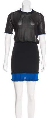 Paco Rabanne Short Sleeve Mini Dress