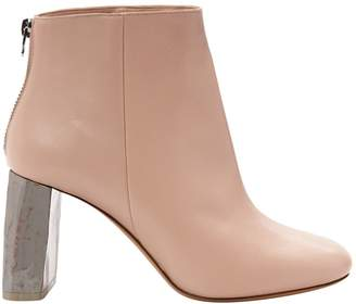 Acne Studios Pink Leather Ankle boots