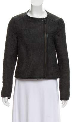 AllSaints Quilted Collarless Jacket