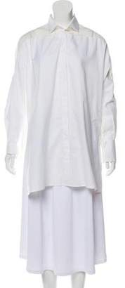 Valentino Long Sleeve Button-Up Tunic