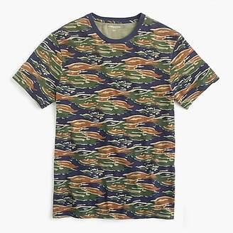 J.Crew Broken-in cotton jersey T-shirt in tiger stripe camo