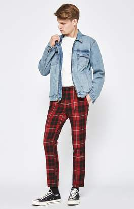 PacSun Skinny Plaid Cropped Chino Pants