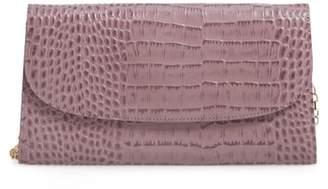 Nordstrom Snakeskin Embossed Leather Clutch