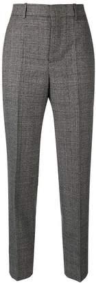 Balenciaga checked carrot leg trousers