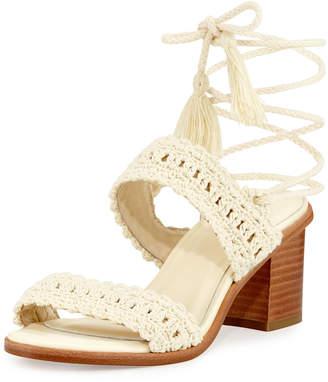 Joie Moxie Crochet Tassel Sandal, Ivory