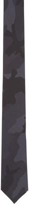 Valentino Black Silk Camo Tie $220 thestylecure.com