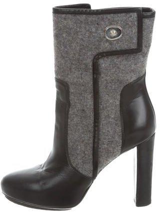 Balenciaga Balenciaga Woven-Trimmed Ankle Boots