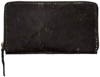 MAHI Leather - Classic Ladies Purse in Black Pony Hair Leather