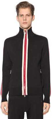 DSQUARED2 Zip-Up Wool Knit Sweater