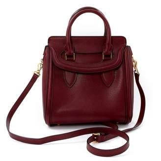 Alexander McQueen Heroine Burgundy Leather Handbag