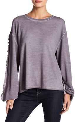 Dantelle Oil Dye Ruffle Sleeve Sweater $46 thestylecure.com
