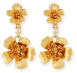 Oscar de la Renta Delicate Flower Clip-On Drop Earrings
