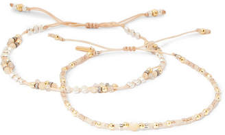 Chan Luu Set Of Two Gold-plated Multi-stone Bracelets