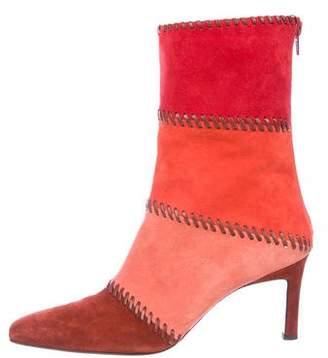 Salvatore Ferragamo Suede Pointed-Toe Boots