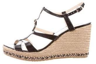 LK Bennett Embossed Wedge Sandals