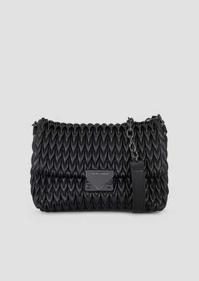 Emporio Armani Quilted Faux Nappa Cross-Body Bag With Drop Motif
