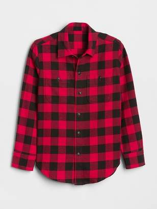 Gap Buffalo Plaid Flannel Shirt