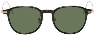 Linda Farrow Luxe Black and Gold 16 C9 Sunglasses
