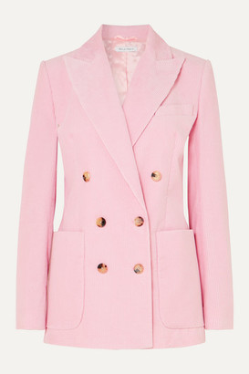 Bella Freud Bianca Double-breasted Cotton-corduroy Blazer - Pink