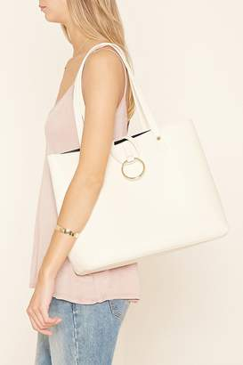 Forever 21 Loop-Ring Faux Leather Tote