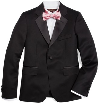 Brooks Brothers Boys One-Button Tuxedo Prep Jacket