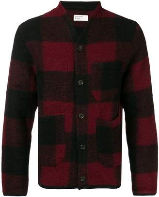 Universal Works check buttoned cardigan