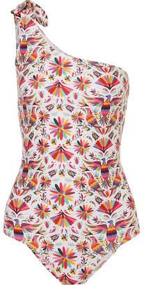 VerdeLimón - Tokyo One-shoulder Printed Swimsuit - Pink