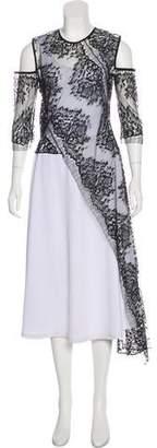 Michelle Mason Asymmetrical Lace Top