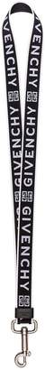 Givenchy black and white logo lanyard keyring