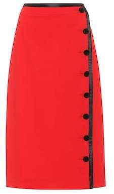 Altuzarra Wrap-style wool skirt