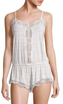 Eberjey Encajes Scalloped Teddy $97 thestylecure.com