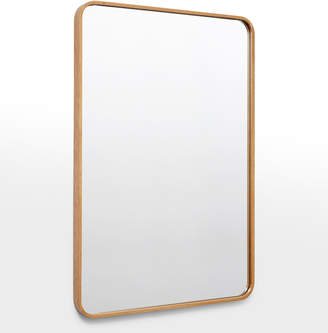 Rejuvenation Solid Walnut Rounded Rectangle Mirror